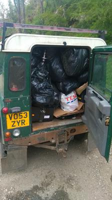 Many bags of rubbish have been collected (National Trust)