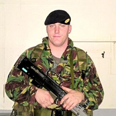 Private Robert Wood who along with Private Dean Hutchinson died in a fire at Camp Bastion