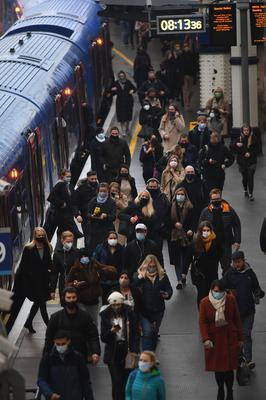 The number of passengers using train services over the five-day period could increase (Victoria Jones/PA)