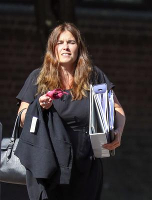 Donna-Maria Thomas leaving Portsmouth Crown Court (Steve Parsons/PA)