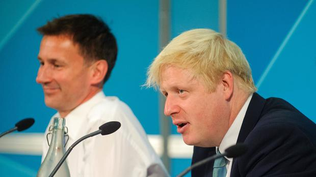 Jeremy Hunt and Boris Johnson said it is 'all to play for' as they wait to learn who will be the next prime minister (Dominic Lipinski/PA)