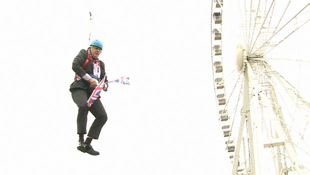 Boris Johnson has previous experience with zip wires (Ben Kendall/PA)