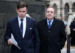 Alex Salmond (right) and his lawyer David McKie (Jane Barlow/PA)