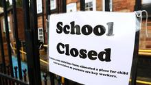 Schools have been closed to many pupils during the Covid-19 pandemic (Tim Goode/PA)
