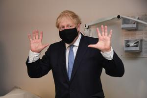 Prime Minister Boris Johnson during a visit to Tollgate Medical Centre in Beckton in East London (Evening Standard/Jeremy Selwyn)