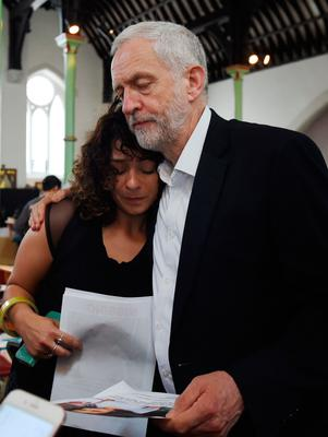 Labour leader Jeremy Corbyn visited the area, and comforted residents at St Clement's Church