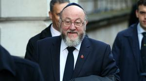 Chief Rabbi Ephraim Mirvis has welcomed Sir Keir Starmer's promise to root out anti-Semitism (Jonathan Brady/PA)