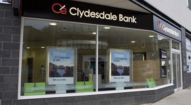 Around 330 jobs are being axed at Clydesdale and Yorkshire Bank owner CYBG (PA)
