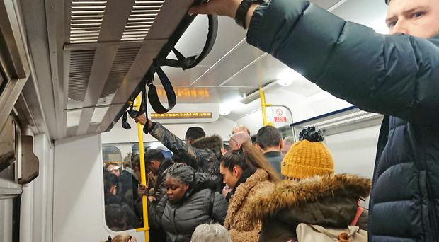 People standing in the aisle of a crowded Northern Rail train (Daniel Fulton/PA)