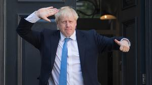 Newly elected Tory leader Boris Johnson arrives at Conservative party HQ in Westminster (Stefan Rousseau/PA)