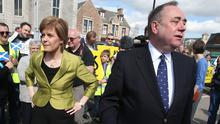 Alex Salmond accused his successor of breaching the ministerial code (Andrew Milligan/PA)