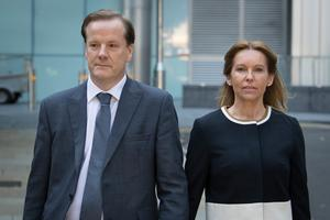 Former Conservative MP Charlie Elphicke, with MP for Dover Natalie Elphicke, arriving at court where he was later convicted (Stefan Rousseau/PA)