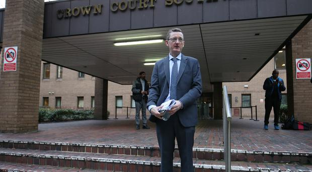 James Farrar, chair of the United Private Hire Drivers' branch of the IWGB union, outside Southwark Crown Court (Jonathan Brady/PA)