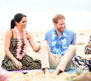 Harry and Meghan visited Sydney's famous Bondi Beach (Paul Edwards/PA)