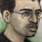 Court artist sketch of Hashem Abedi, younger brother of the Manchester Arena bomber (Elizabeth Cook/PA)