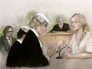 Actress Amber Heard being questioned by Sasha Wass QC (Elizabeth Cook/PA)