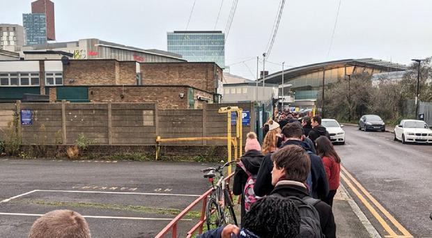 A queue at a polling station in London (@rpate/Twitter)