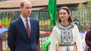 The Duke and Duchess of Cambridge take part in a traditional chipdrel welcome procession at Tashichho Dzong, in Thimphu, Bhutan, on day five of the royal tour to India and Bhutan.