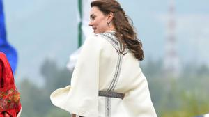 The Duchess of Cambridge at Tashichho Dzong, in Thimphu, Bhutan, on day five of the royal tour to India and Bhutan.