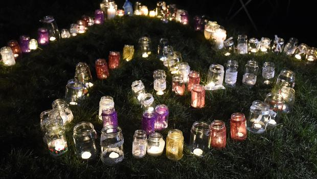 Candles left by members of the public in memory of Summer (Lauren Hurley/PA)