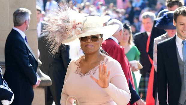 Oprah Winfrey arrives at St George's Chapel at Windsor Castle (Ian West/PA)