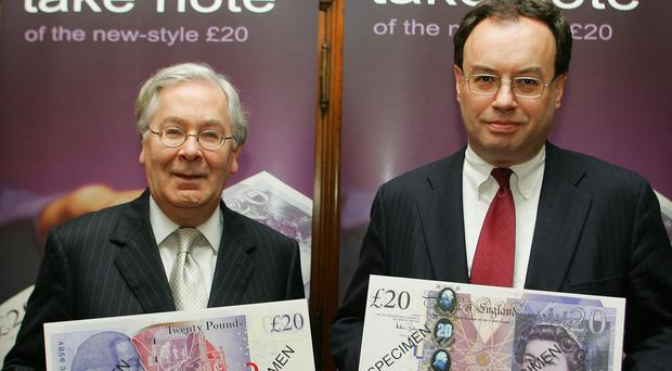 Andrew Bailey, the new Governor of the Bank of England from 2007 with the former Governor Mervyn King. (Geoff Caddick / PA)