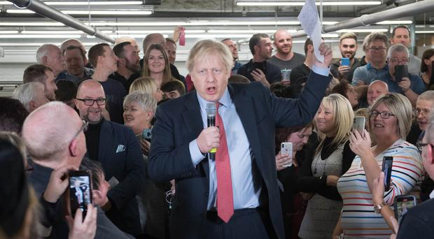 Prime Minister Boris Johnson made the comments during a speech in Derbyshire (PA)