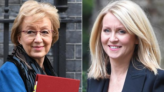 Andrea Leadsom and Esther McVey (PA)