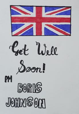 From Shaheda, 10, of Birmingham (Andrew Parsons/10 Downing Street/Crown Copyright)