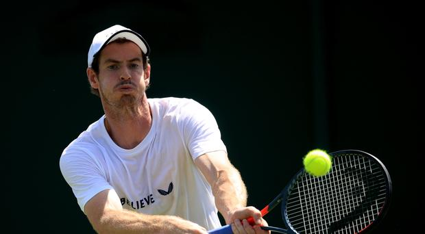 Andy Murray is only playing in the men's doubles at Wimbledon this year as he continues to recover from hip surgery (Adam Davy/PA)