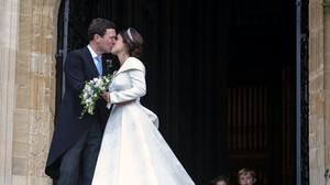 Princess Eugenie and her husband Jack Brooksbank (Victoria Jones/PA)