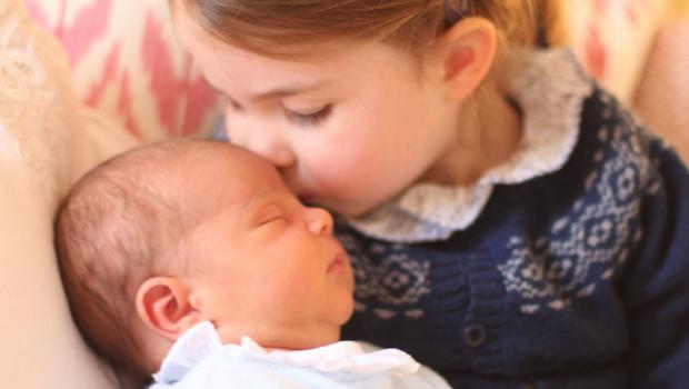 Princess Charlotte and her little brother (HRH The Duchess of Cambridge/PA)