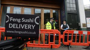"""Three people have been treated for minor injuries after an """"unidentified substance"""" was delivered in an envelope to a business in London's Borough Market (Victoria Jones/PA)"""