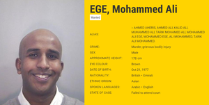 Screenshot of the most wanted section of Europol's website, appealing for information about the whereabouts of murder suspect Mohammed Ali Ege. (Credit: Europol/PA)