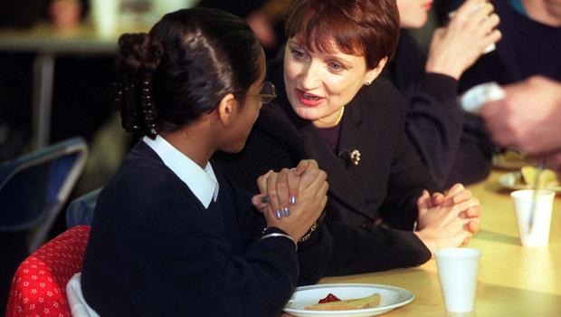 As Health Minister, Tessa Jowell visited the breakfast club at Whitefield School in Cricklewood in 1998 (PA)