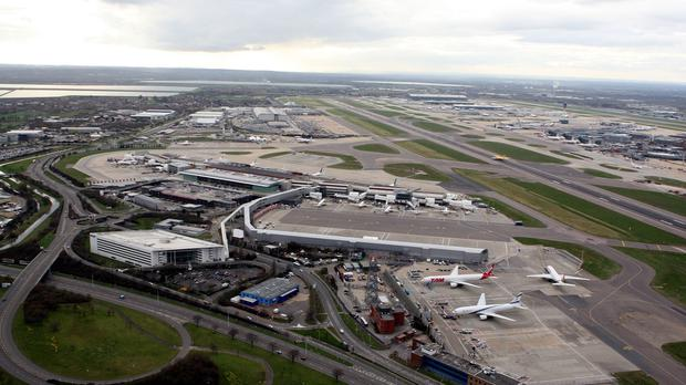 A Cathay Pacific flight from Heathrow was delayed after the pilot was arrested for alleged possession of knives