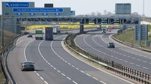 The M1 in Bedfordshire was among the many quiet roads in the UK on Thursday as there was no mass Easter getaway (Joe Giddens/PA)
