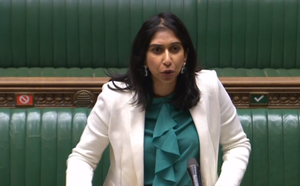 Attorney General Suella Braverman responds to questions in the Commons (PA)