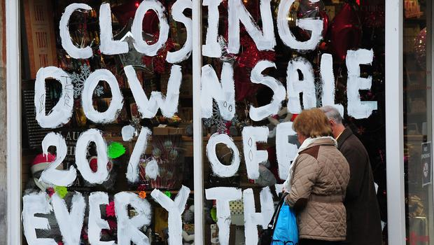 Store closures of chain stores have hit nearly 6,000 so far this year (Rui Vieira/PA)