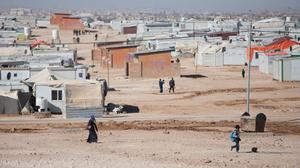 Previously unissued photo dated 09/12/15 of the Zaatari refugee camp in Jordan, which hosts around 80,000 Syrians and opened in July 2012.