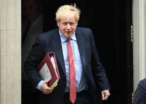 Prime Minister Boris Johnson departs 10 Downing Street to attend Prime Minister's Questions (Stefan Rousseau/PA)