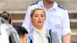Amber Heard at the High Court in London (Aaron Chown/PA)