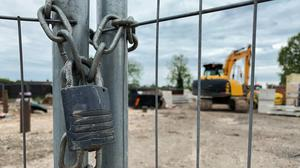 Britain's construction sector saw a drop in activity of 'historic proportions' last month as the coronavirus pandemic forced widespread closures of sites and building suppliers, according to a report (Scott Wilson/PA)