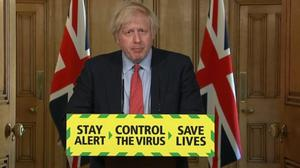 Prime Minister Boris Johnson during the latest media briefing in Downing Street (PA Video)