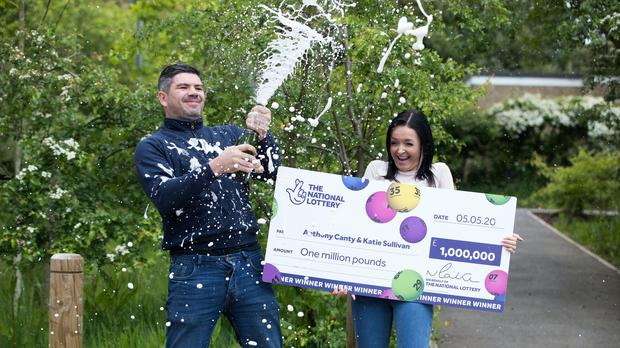 Anthony Canty, 33, celebrates his £1 million Lottery win (National Lottery/PA)