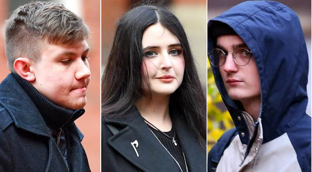 Garry Jack, Alice Cutter and Connor Scothern (Jacob King/PA)