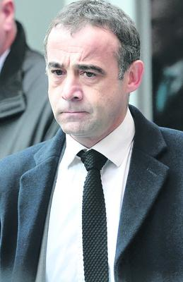 Coronation Street actor Michael Le Vell  leaves Manchester Magistrates Court where he made his first court appearance accused of child sex offences. PRESS ASSOCIATION Photo. Picture date: Wednesday February 27, 2012. Le Vell, 48, has been charged with 19 offences including raping a child, indecently assaulting a child and sexual activity with a child. The actor, who plays car mechanic Kevin Webster in the ITV soap appeared under his real name of Michael Turner. See PA story COURTS CoronationSt. Photo credit should read: Peter Byrne/PA Wire
