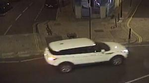 Detectives have released a CCTV image of a white Range Rover Evoque seen in Shepherd's Bush, west London, after a man was shot dead (Metropolitan Police/PA)