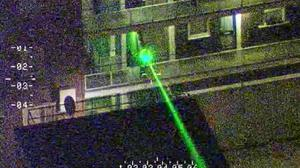 A laser pen being directed at a police helicopter, leading to a man being arrested and charged (National Police Air Service/PA)