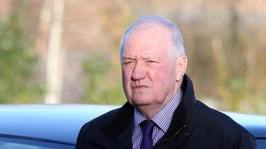 Former chief superintendent David Duckenfield arriving at the Hillsborough inquest